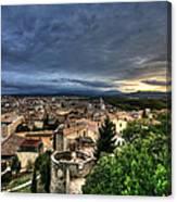 Girona Cityscape Canvas Print
