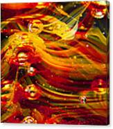 Glass Macro Abstract - Molten Fire Canvas Print