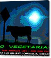 Go Vegetarian Canvas Print
