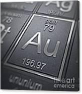 Gold Chemical Element Canvas Print