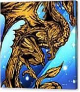 Gold Metal Dragon Canvas Print