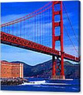 Golden Gate Bridge Panoramic View Canvas Print