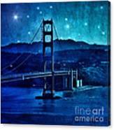 Golden Gate Bridge Night Canvas Print