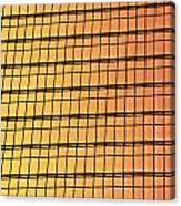 Golden Glass Wall Background  Canvas Print