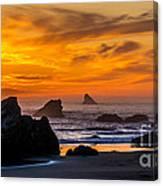 Golden Harris Beach Sunset - Oregon Canvas Print