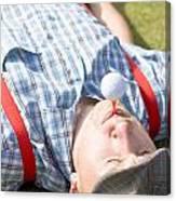 Golf Player Finding Inner Balance Canvas Print