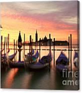Gondolas At Sunrise Venice Italy Canvas Print Canvas Art By Matteo Colombo