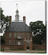 Governers Palace Colonial Williamsburg Canvas Print
