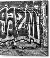Graffiti Door Canvas Print