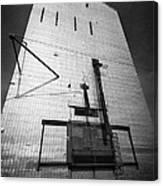 grain elevator doors and filling pipe leader Saskatchewan Canada Canvas Print