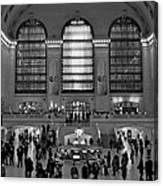 Grand Central Station Bw Canvas Print