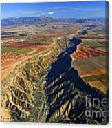 Great Canyon River Gor In Spain Canvas Print