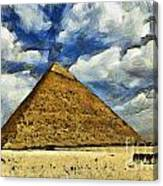 Great Pyramid Of Egypt Canvas Print