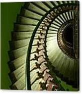 Green Spiral Staircase Canvas Print