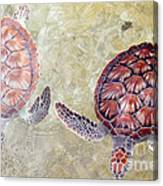 Green Turtles Canvas Print