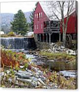 Gristmill Weston Vermont Canvas Print