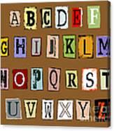 Grunge Alphabet Canvas Print