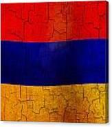 Grunge Armenia Flag  Canvas Print