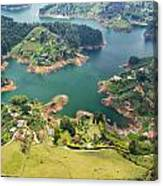 Guatape Lake Canvas Print