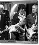 Guitar Legends Jimmy Page Jeff Beck And Eric Clapton Canvas Print