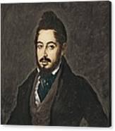 Gutierrez De La Vega, Jos� 1791-1865 Canvas Print