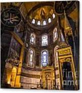 Hagia Sophia Church Istanbul Turkey Canvas Print