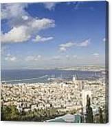 Haifa Bay Panorama Canvas Print
