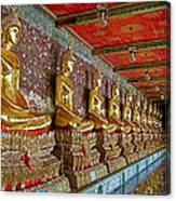 Hall Of Buddhas At Wat Suthat In Bangkok-thailand Canvas Print