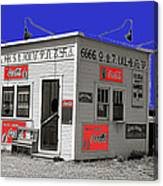 Hamburger Stand Coca-cola Signs Russell Lee Photo Farm Security Administration Dumas Texas 1939-2014 Canvas Print