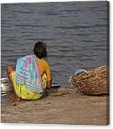 Hampi River Scenes Canvas Print