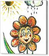 Happy Flower Canvas Print