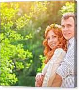 Happy Loving Couple Canvas Print