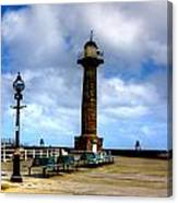 Harbour Light Whitby Canvas Print
