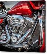 Harley Davidson Motorcycle Harley Bike Bw  Canvas Print