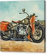 Harley Davidson Wla 1942 Canvas Print