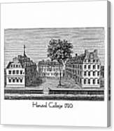 Harvard College - 1720 Canvas Print