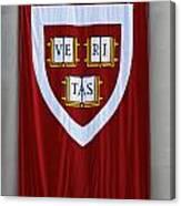 Harvard Veritas Banner Canvas Print