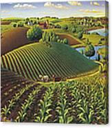 Harvest Panorama  Canvas Print