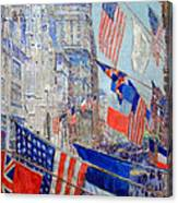 Hassam's Allies Day May 1917 -- The Avenue Of The Allies Canvas Print
