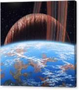 Hd 177830 B And Moon Canvas Print