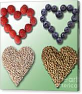 Heart-healthy Foods Canvas Print