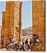 Hellenistic Gateway In Petra-jordan  Canvas Print