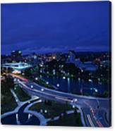 High Angle View Of A City, Big Spring Canvas Print