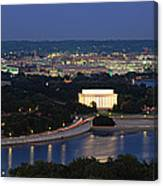 High Angle View Of A City, Washington Canvas Print