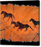 High Desert Horses Canvas Print