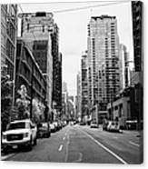 high rise apartment condo blocks in the west end west pender street Vancouver BC Canada Canvas Print