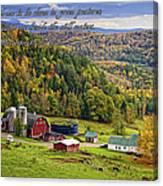 Hillside Acres Farm Canvas Print