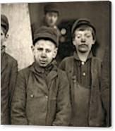 Hine Breaker Boys, 1911 Canvas Print