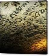 Historic Graphitti  Canvas Print