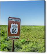 Historic Old Route 66 Passed Canvas Print